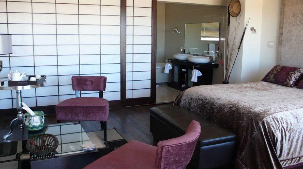 L'intérieur du chalet Luxury en Afrique du Sud