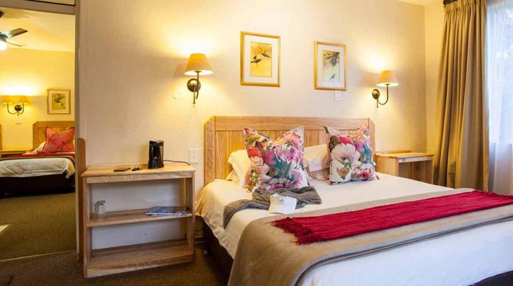 Le lit et l'autre chambre en Afrique du Sud