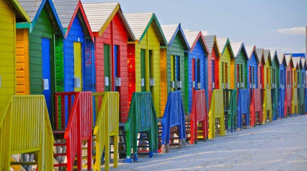 La cabines de plage de Muizenberg