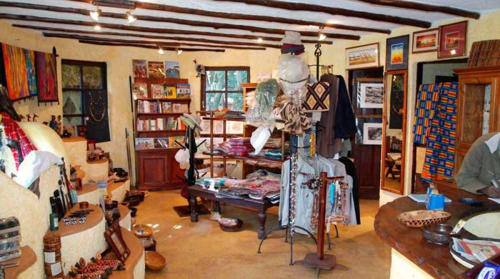La boutique dans le Masai Mara