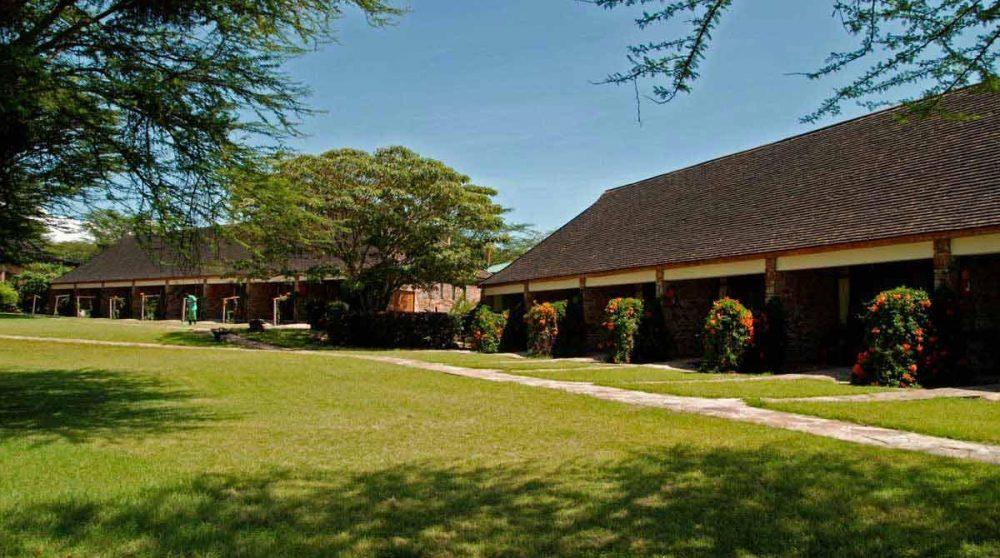 Le bâtiment des chambres dans le Masai Mara