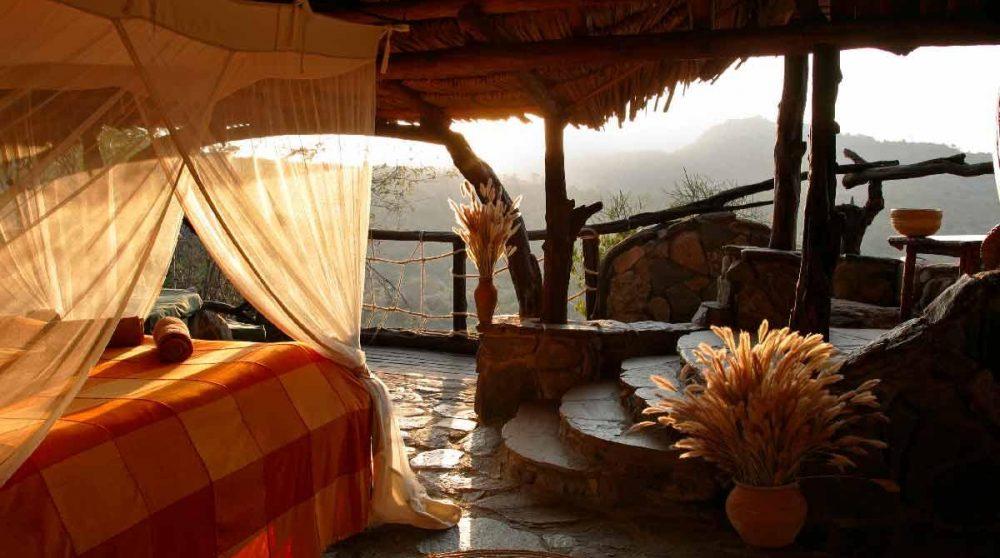 Une chambre au coucheur du soleil à Laikipia
