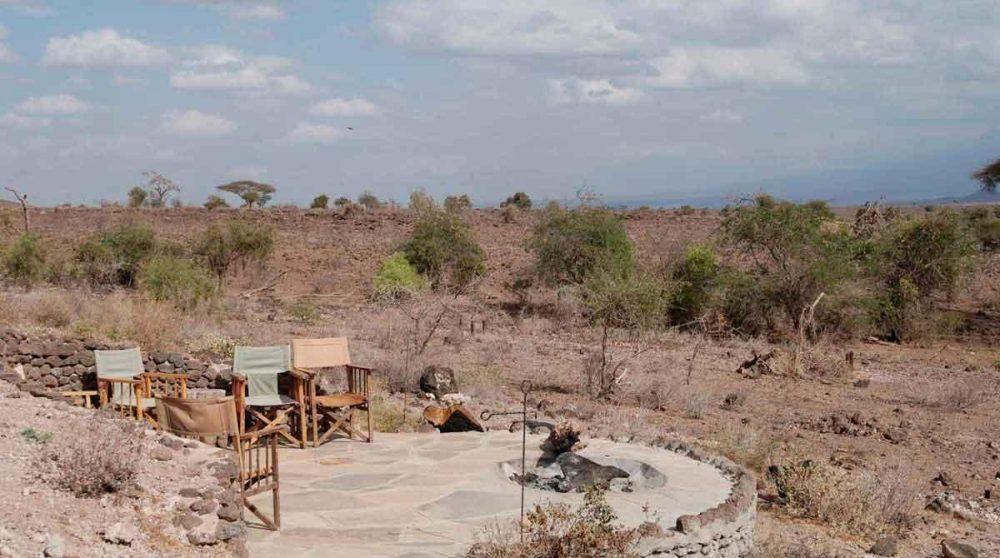 Canapé et fauteuils dans un salon à Amboseli