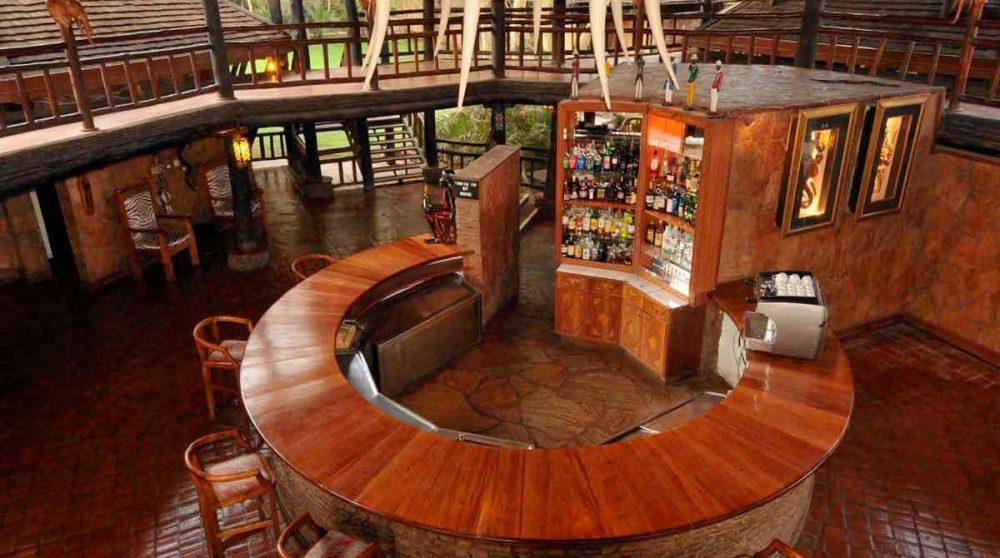 Le bar de l'hôtel à Amboseli