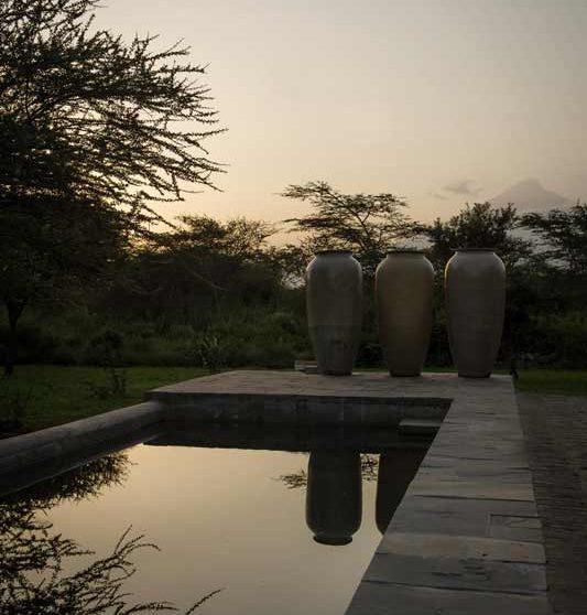 La piscine du Siringit Villa
