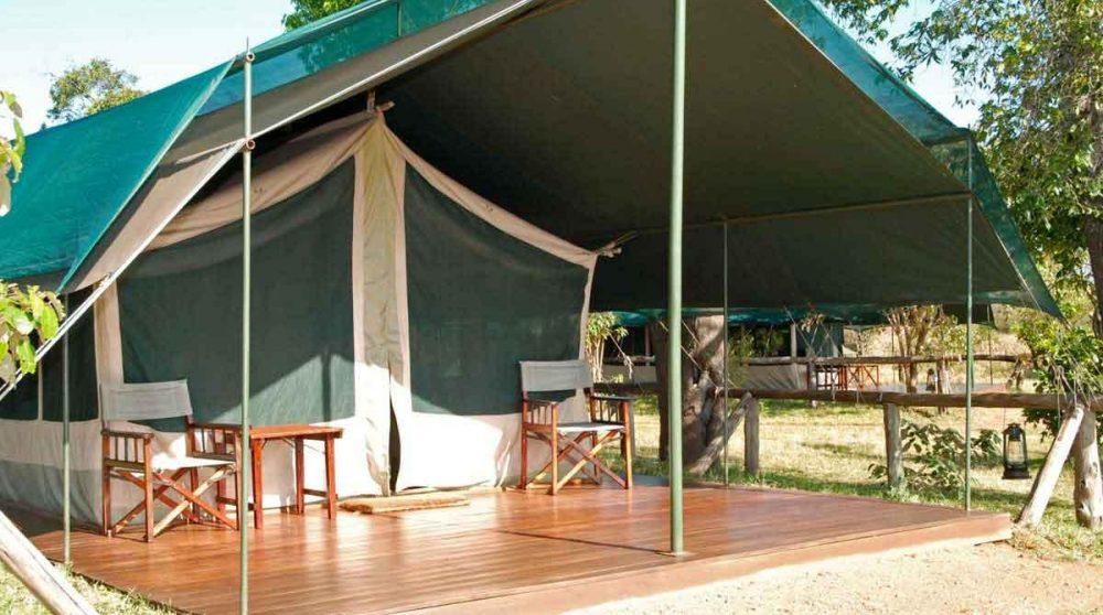 L'arrivée à l'une des tentes au Kenya