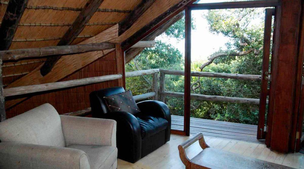 Espace détente avec vue à Mabibi