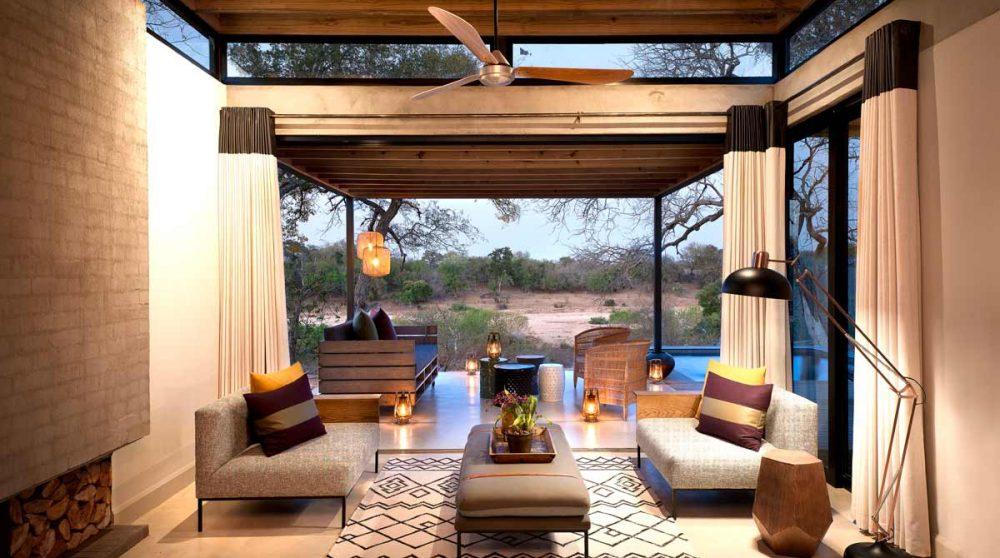 Autre vue du salon près du parc Kruger