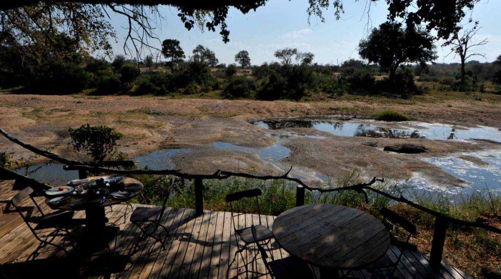 La nature vue depuis la terrasse en Afrique du Sud