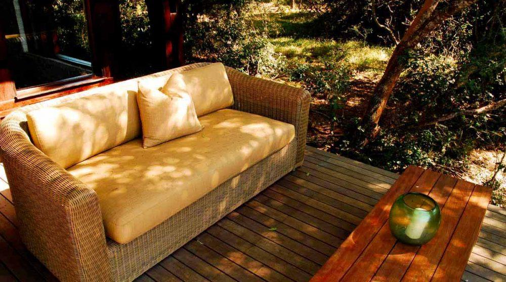Canapé sur la terrasse dans le Kwazulu Natal