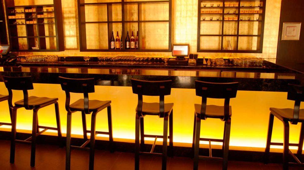 Vue du bar au Cap