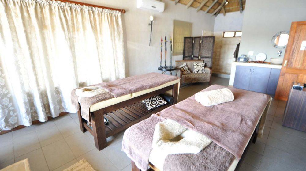 Une salle pour se faire masser en Afrique du Sud