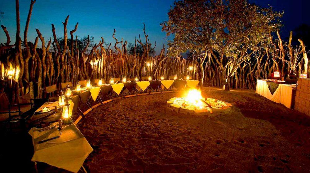 Une soirée dans le jardin en Afrique du Sud