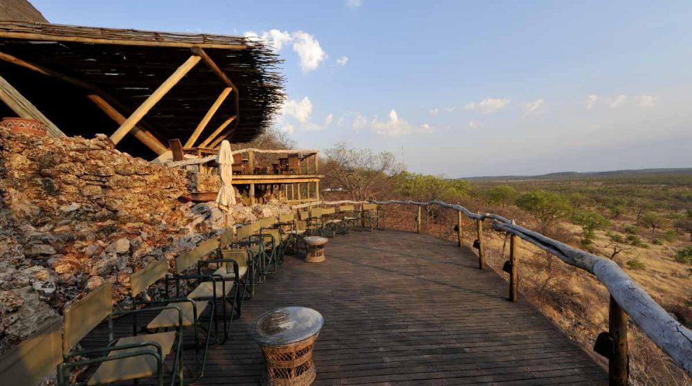Autre vue de la terrasse à Etosha