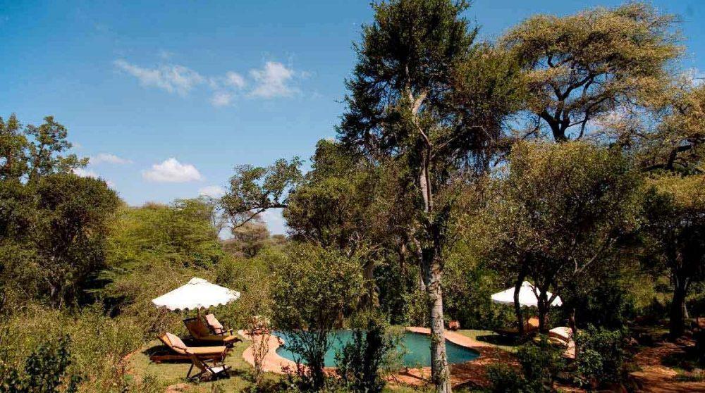 La piscine au beau milieu de la nature au Meru National Parc