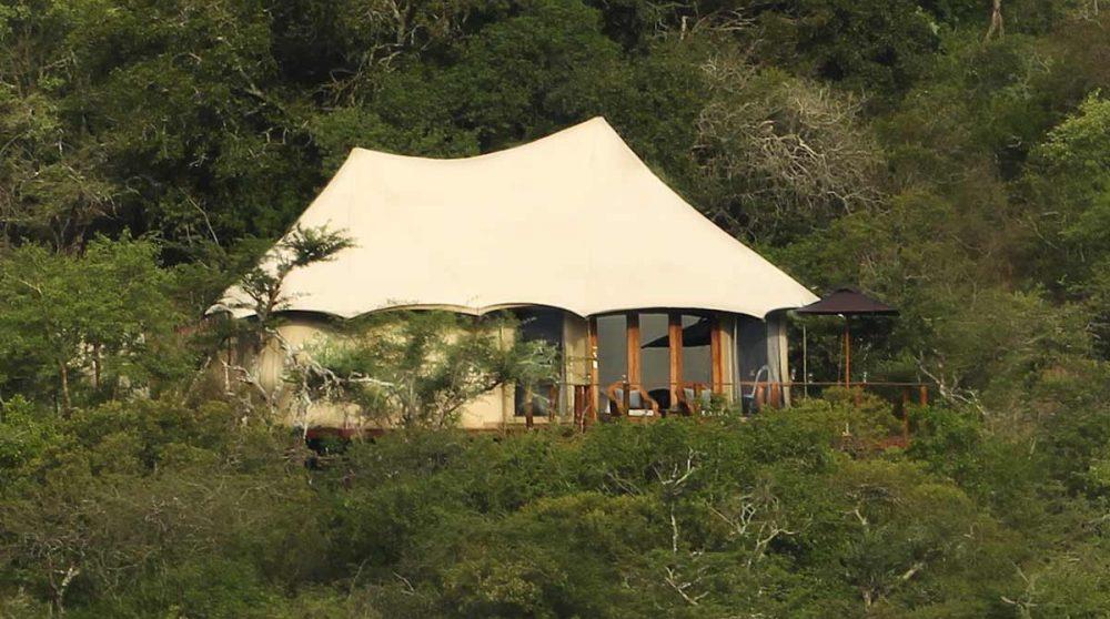 Une tente du camp dans le Kwazulu Natal