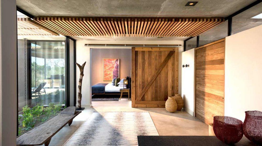 Le couloir vers la chambre en Afrique du Sud