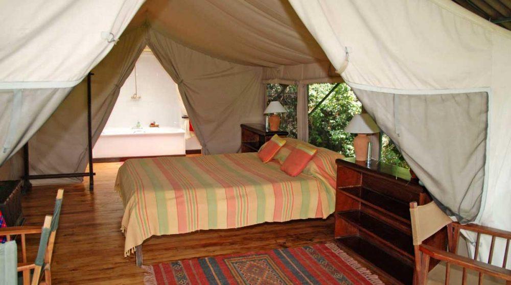 Ouverture de la tente