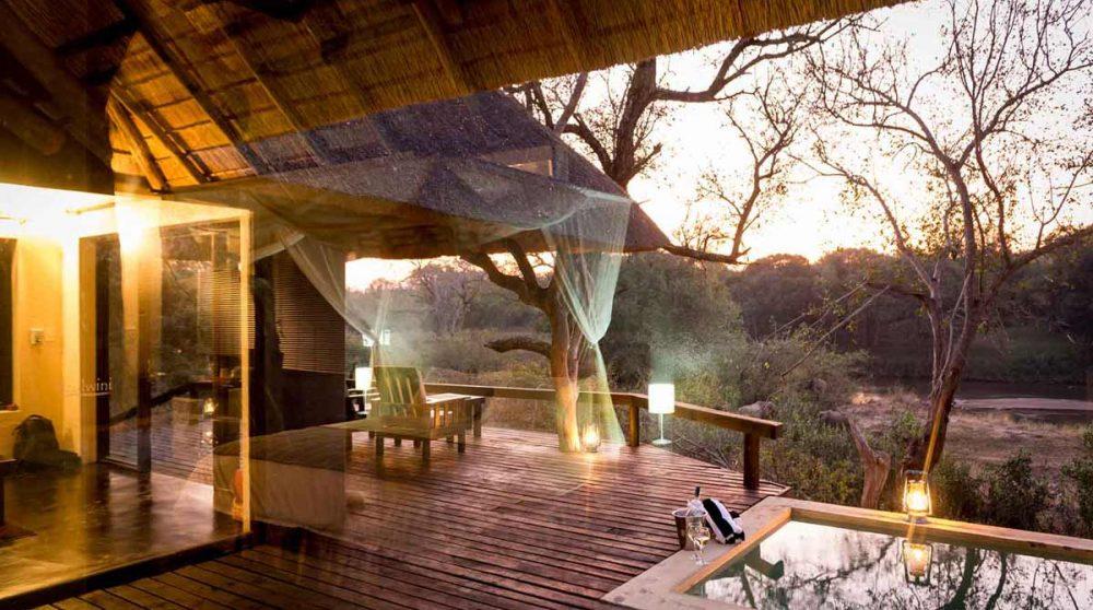 La terrasse d'une Suite en Afrique du Sud