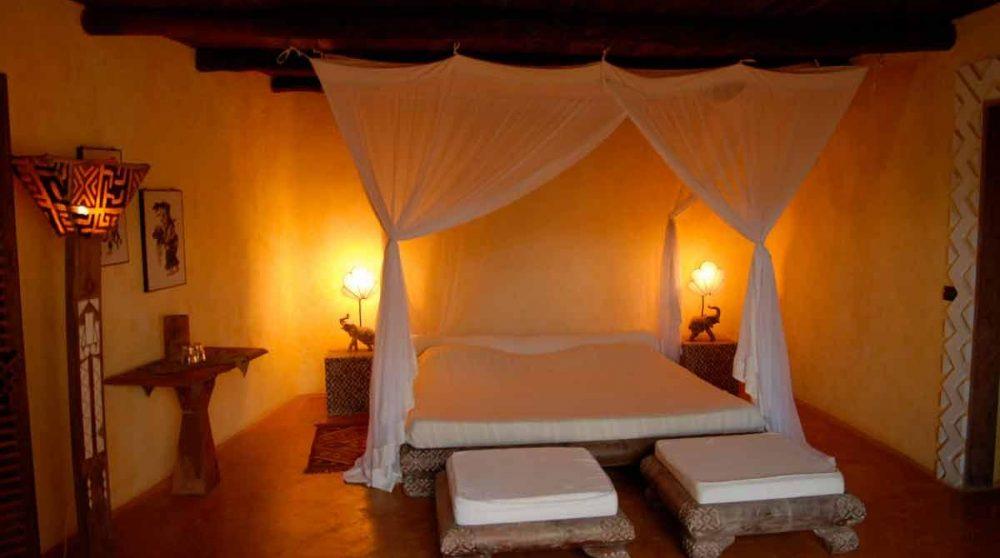 Autre vue d'une chambre de l'Alfajiri Beach Villa