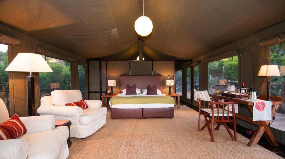 Autre tente de l'Amakhala HillsNek Safari Camp