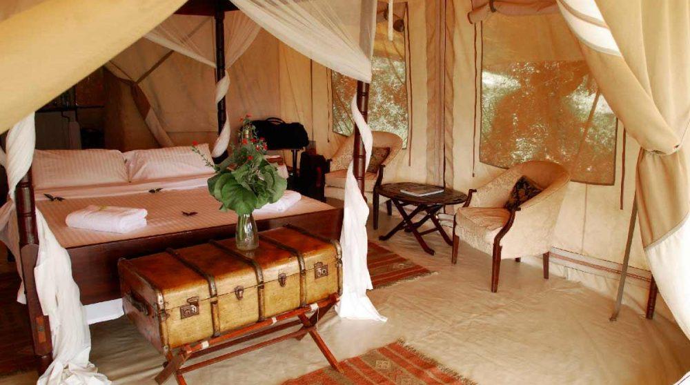 Chambre dans une tente du Cottars 1920