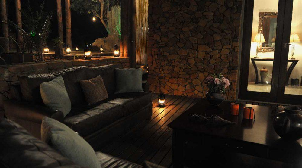 Soirée à l'Esiweni Lodge
