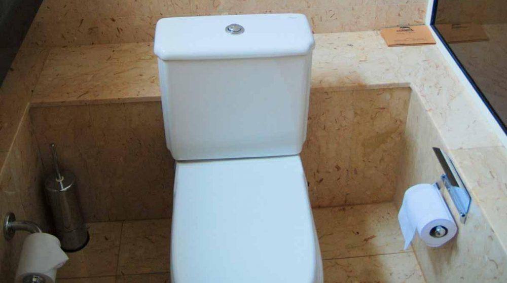 Toilettes dans une salle de bains du House of Waine