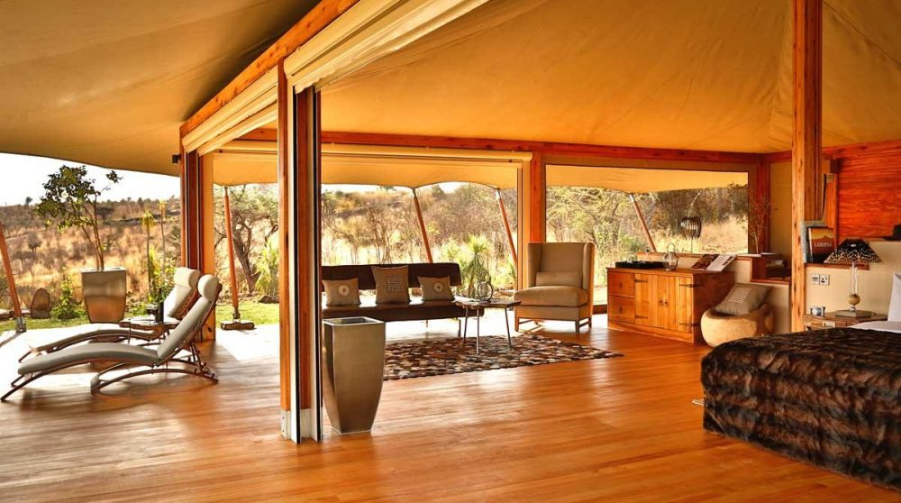 Vue de la tente du Loisaba Tented Camp