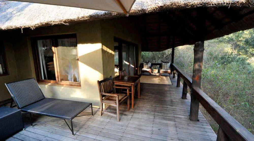Une terrasse au Londolozi Varty Camp