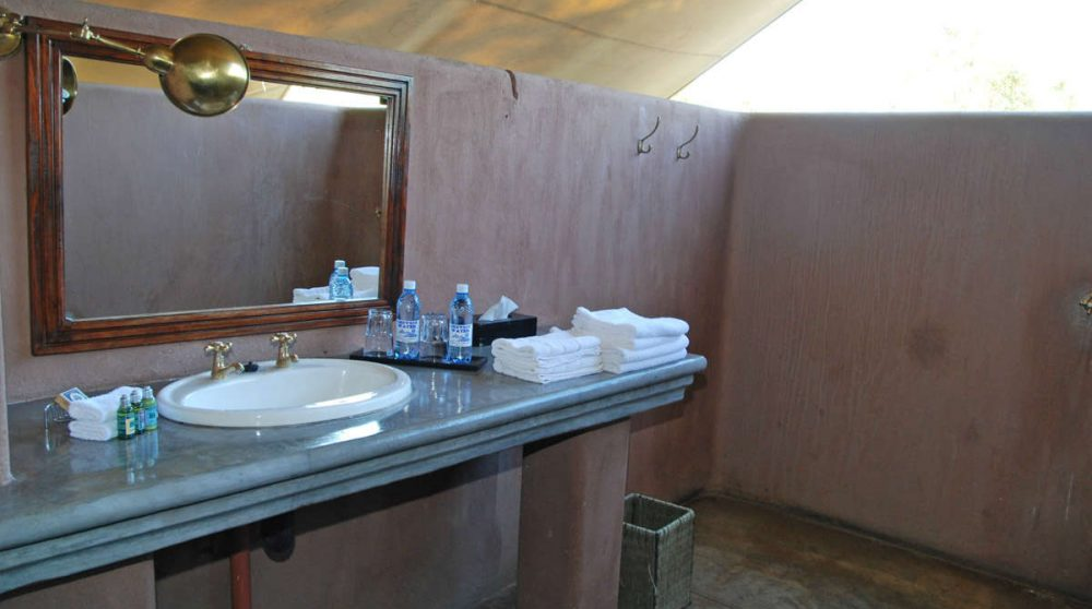 Une salle de bains au Mantobeni