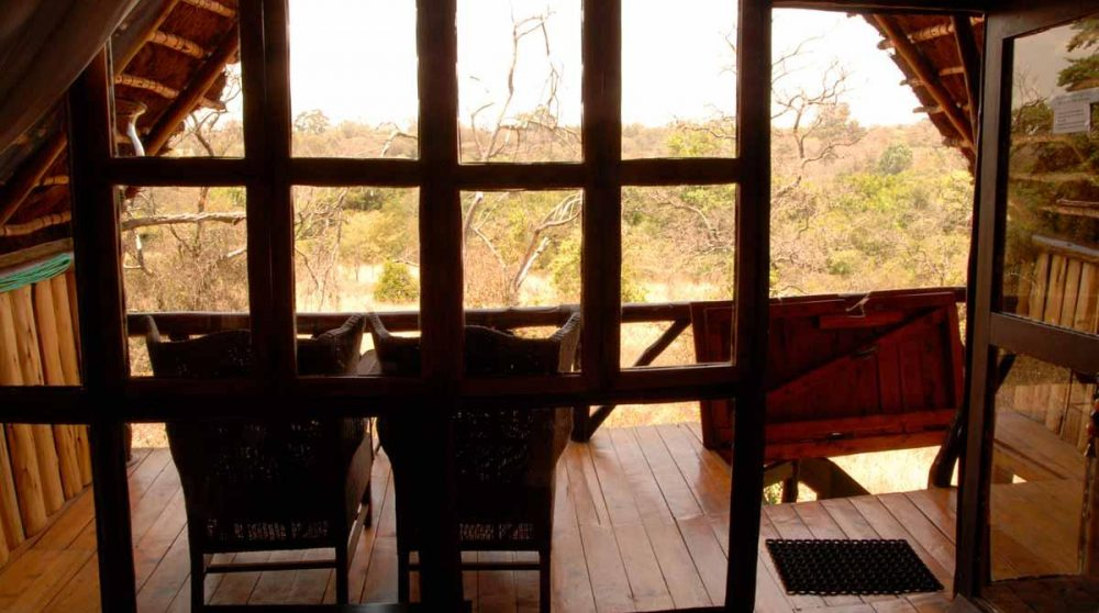 Vue depuis une treehouse du Ngong House