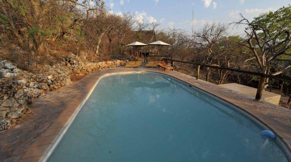 La piscine à l'Ongava Lodge