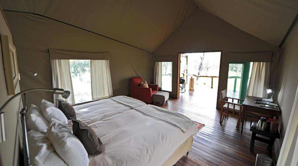 Autre vue d'une tente de l'Ongava Tented Camp