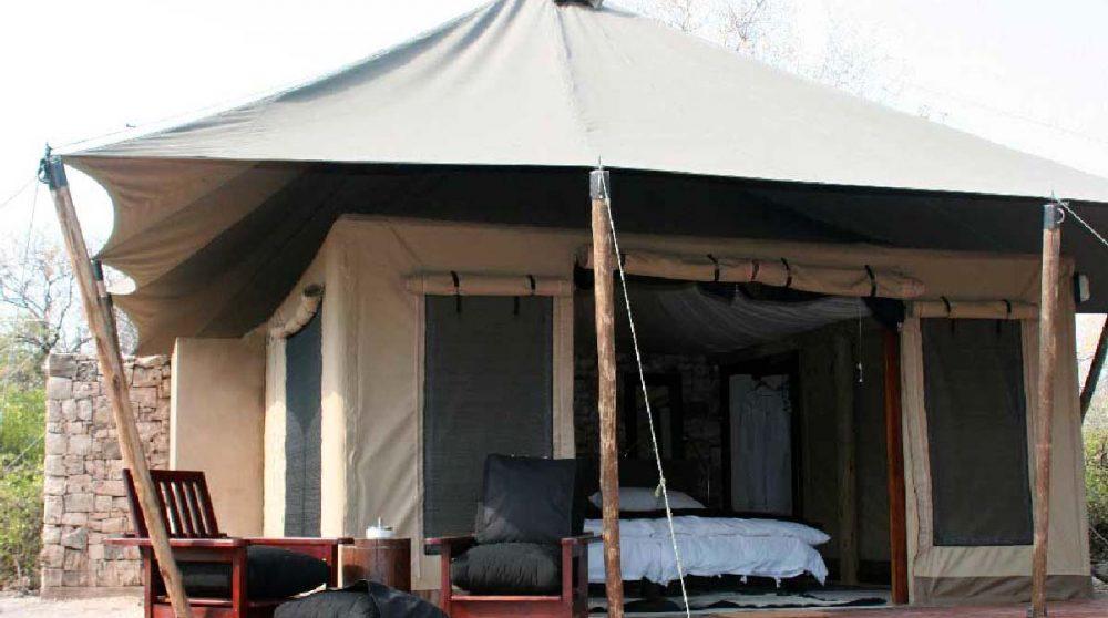 Une tente à l'Onguma Tented Camp