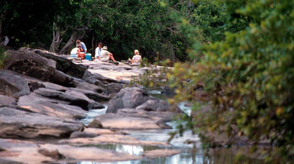 Pique-nique en pleine nature au Sand Rivers Selous