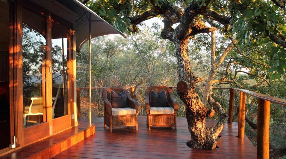 Une terrasse du Thanda Tented Camp