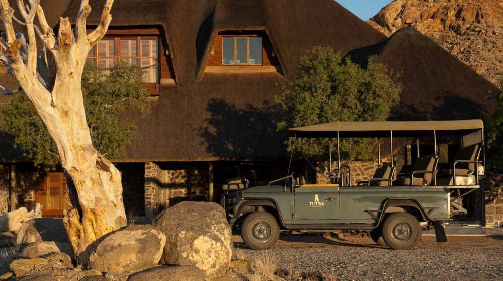 Départ en safari au Tutwa Desert Lodge