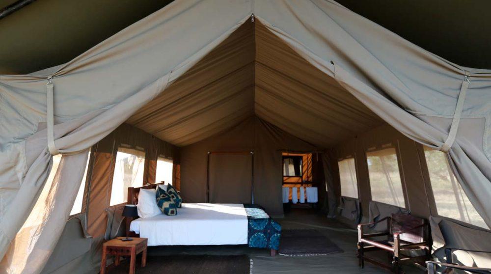 Autre vue d'une tente en Tanzanie