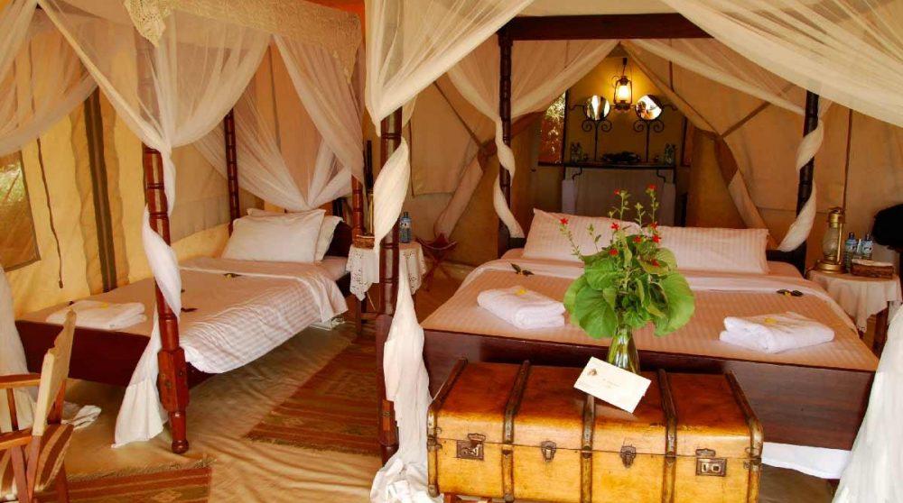 Lits dans une chambre au Kenya