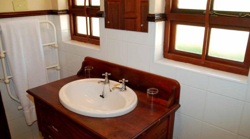 Lavabo dans la salle de bains en Afrique du Sud