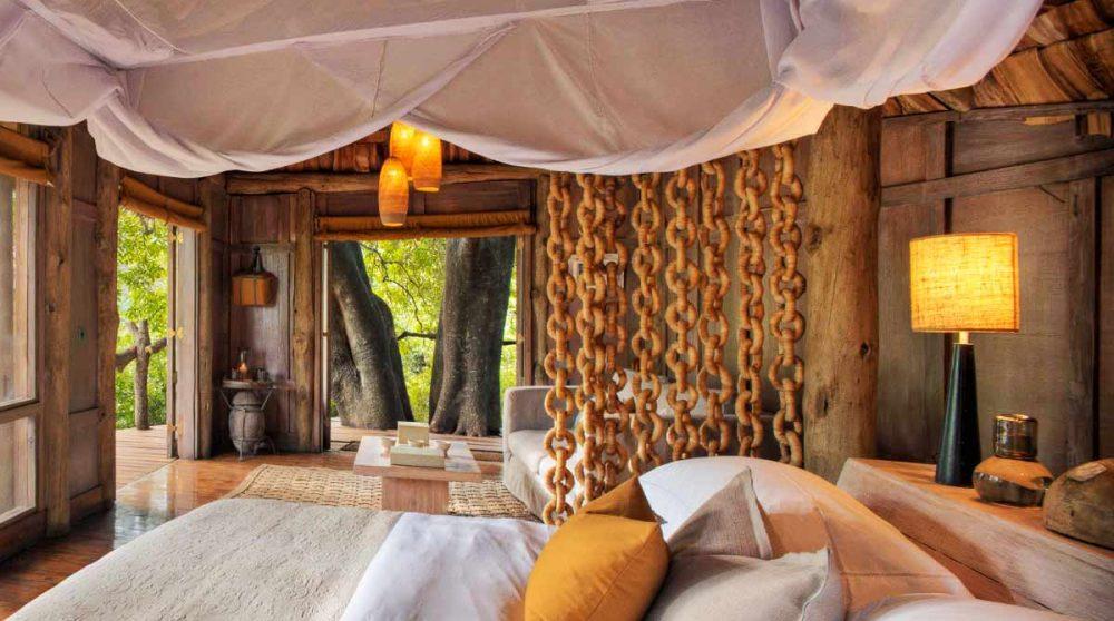 La vue depuis le lit en Tanzanie