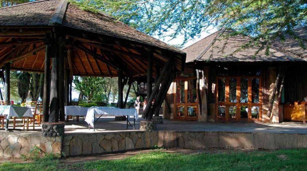 Architecture traditonnelle de l'hôtel au Kenya