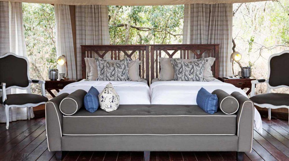 Une chambre du camp en Afrique du Sud