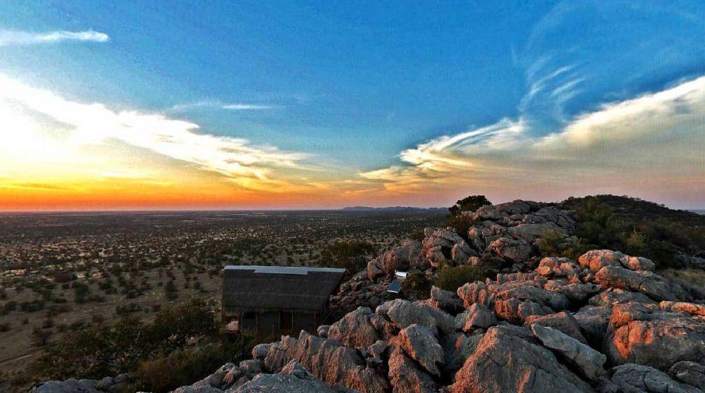 La vue depuis le camp en Namibie