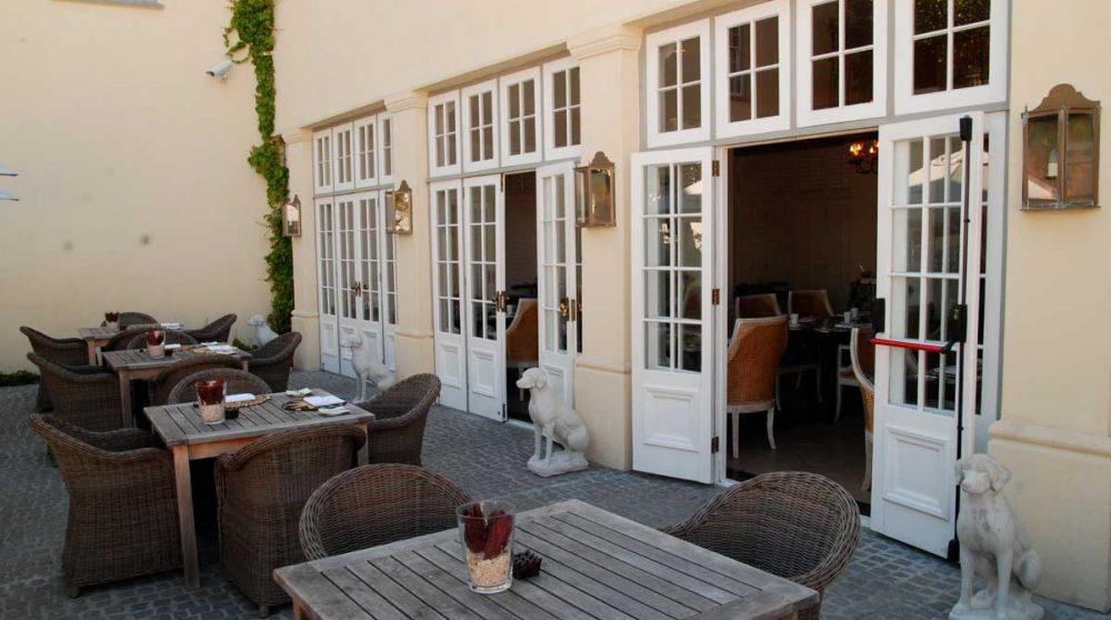 Terrasse du restaurant en Afrique du Sud