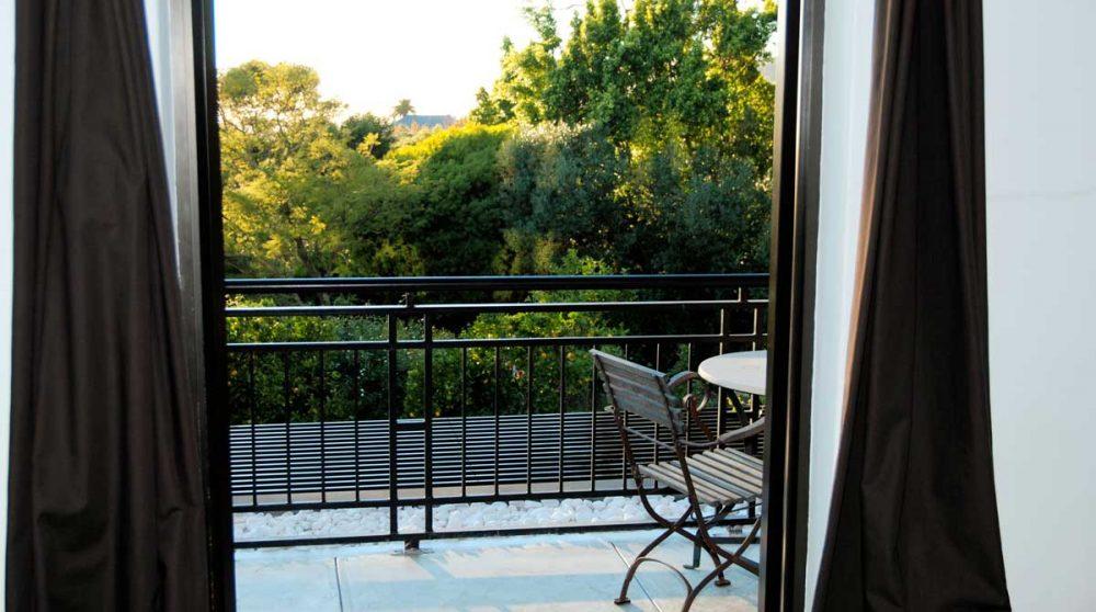 Le balcon d'une chambre standard