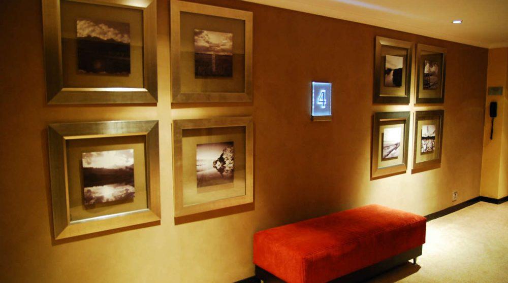 Un couloir de l'hôtel au Cap