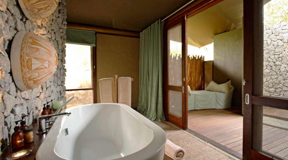 Vue depuis la salle de bains en Afrique du Sud