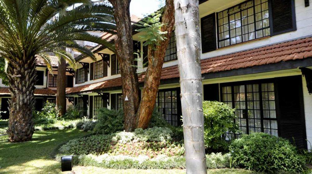 L'extérieur des chambres au Kenya